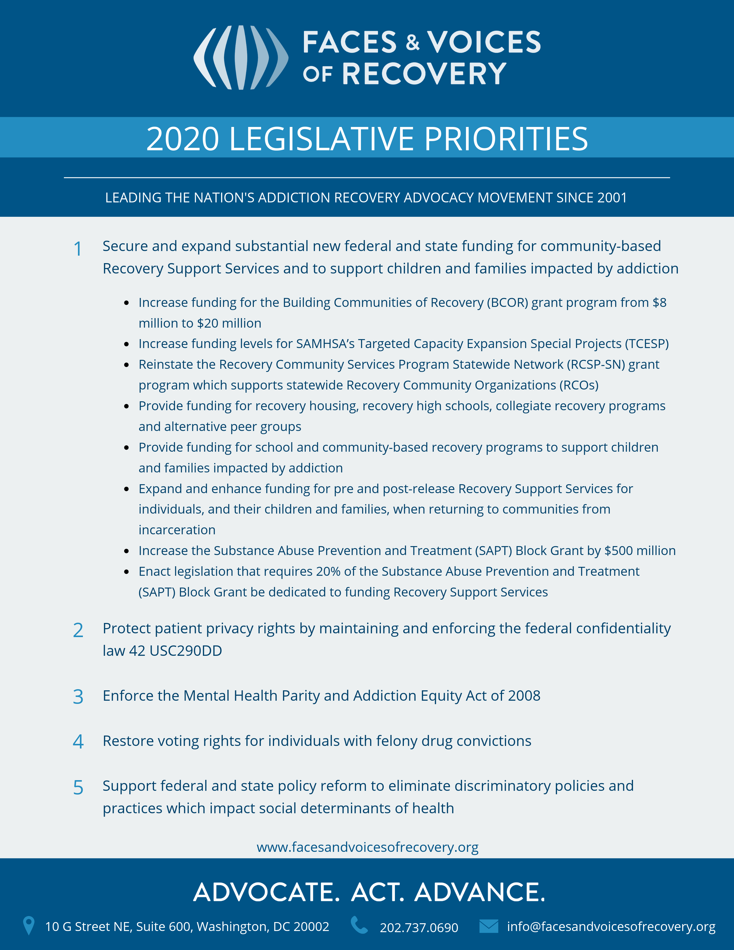 2020 Legislative Priorities