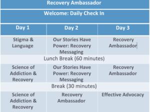 Recovery Ambassador Training @ Virtual Event