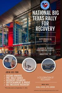National Big Rally for Recovery event flyer